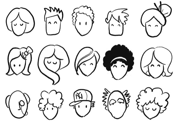 Many diverse face sketches